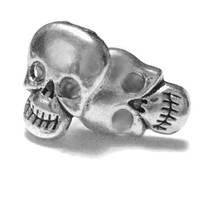 Silver Skull Earring Studs - Gothic Jewelry - Halloween Studs - Halloween Jewelry - Skeleton Earrings