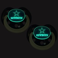 Dallas Cowboys Infant 2-Pack Glow Pacifier