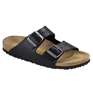 Birkenstock Classic Arizona Oiled Leather Narrow Fit Black - Beauty Ticks