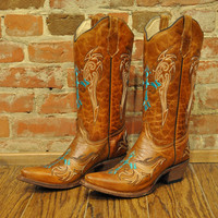 Honey Cross Boot Circle G by Corral