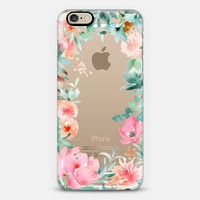 Lush Floral Watercolor Transparent by Julie Song Ink iPhone 6 case by juliesongink | Casetify