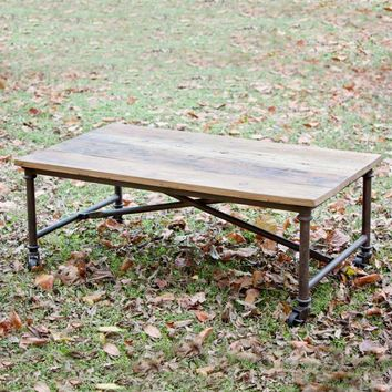 Reclaimed Wood with Metal Coffee Table