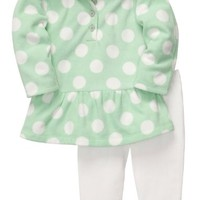 Carter's Baby-girls Hooded Microfleece Top and Pants Set