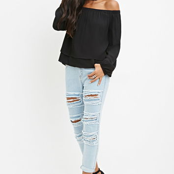 Off-The-Shoulder Layered Top | Forever 21 - 2000161879
