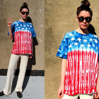 90's American Flag Red White Blue Stars by SomeVelvetVintage