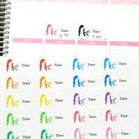 Haircut Salon Appointment Time Reminder Planner Sticker for Erin Condren Life Planner (ECLP) Reminder Sticker