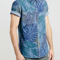 Tropical Print Denim Shirt - Men's Shirts - Clothing - TOPMAN