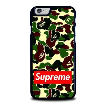 camo bape supreme iphone 6 6s case cover  number 1