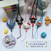 Lovely Mickey Minnie Kitty Lanyard for Keys Mobile Phone Straps Soft Cartoon Pendant PVC Squishy Ropes for case for Cards