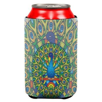 CREYCY8 Mandala Trippy Stained Glass Peacock All Over Can Cooler