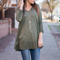 Good Intentions Top, Olive