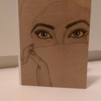 Exotic Eyes Version 1 Card (blank inside, folded, original art)
