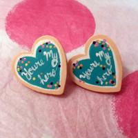 Wreck it Ralph You're my Hero medal post earrings by BeanDesu