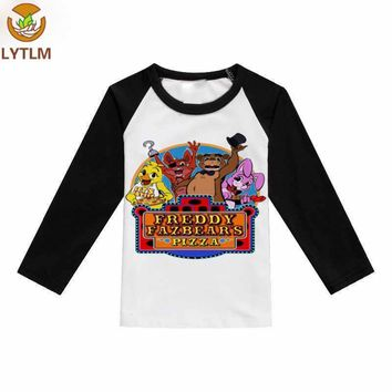 LYTLM Retail Brand 2018 New Cotton  Kids T-shirts Five Night at Freddy Kids Clothes Child Blouse Top Clothing For baby Girls