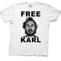 Workaholics Free Karl Mug Shot White T-shirt  - Workaholics - | TV Store Online