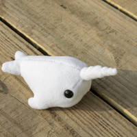 Narwhal Plushie in White - Small