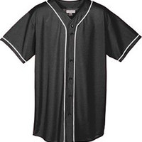 E16751 Augusta Youth Mesh Button Front Baseball Jersey