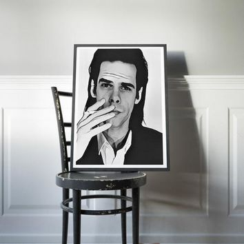 Nick Cave Poster Bad Seeds Art Painting Print