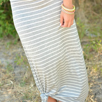 SWEET AND SIMPLE MAXI SKIRT IN GRAY