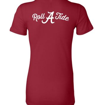 Official NCAA Venley University of Alabama Crimson Tide UA ROLL TIDE! Ladies Favorite Tee - 35AL-25