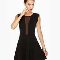 Peek Chic Cutout Black Dress