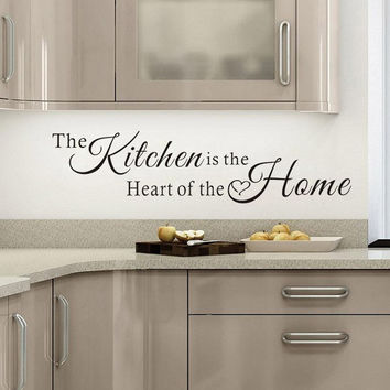 Wall Quote Art The Kitchen Is A Heart Of The Home Wall Sticker Art Decal