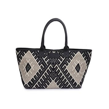 Phive Rivers Women's Jacquard Fabric Tote Bag -PRU1353