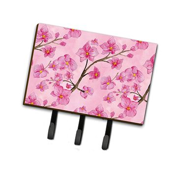 Watercolor Pink Flowers Leash or Key Holder BB7505TH68