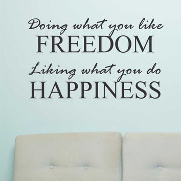 Definition Freedom Happiness Quote | Vinyl Lettering | Wall Decals