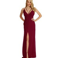 Vivian-burgundy Formal Dress