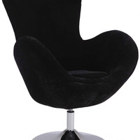 Black Modern Swivel Arm Fun Chair