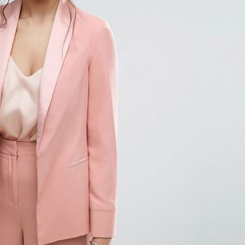 ASOS Matte and Shine Soft Blazer at asos.com