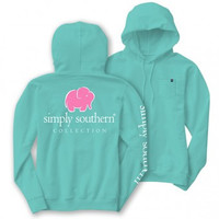 Simply Southern Elephant Logo Long Sleeve Lightweight Hoodie T-Shirt