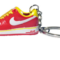 Nike Red Yellow White Air Force 1 Low 3D Keychain