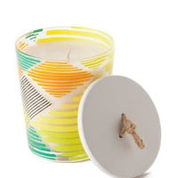 ILLUME PINEAPPLE CILANTRO PRINTED GLASS CANDLE