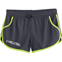 Under Armour Rally Shorts - Grey/Neon Yellow - 4