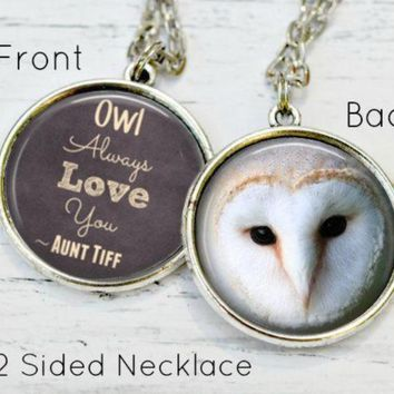 NIECE GIFT - Niece Necklace - Niece Jewelry - Owl Necklace - Owl Love You Forever