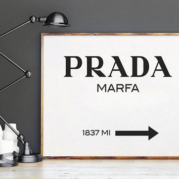 Modern painting  Gossip Girl  Prada Marfa Print Prada Marfa Art Prada Marfa Decor Gossip Girl Fashion Art Fashion Print Bedroom Prada Sign