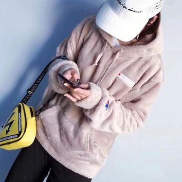 Champion Woman Men Fashion Wool Hoodie Top Sweater Pullover