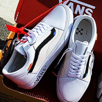 OFF-WHITE x Vans Fashion Old Skool Sneakers Sport Shoes