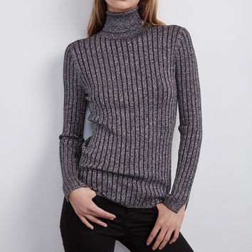 AMIRACLE CASHMERE BLEND WITH LUREX TURTLENECK
