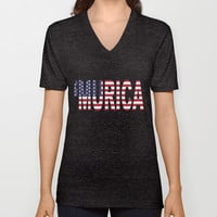 'Murica V-neck T-shirt by productoslocos | Society6