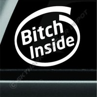 Bitch Inside Bumper Sticker Vinyl Decal Novelty Sticker Dog Car Sticker For Jeep