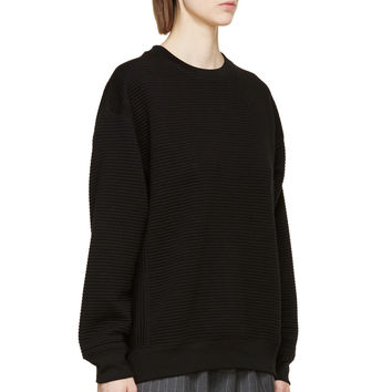 Rag And Bone Black Ribbed Sloane Sweatshirt