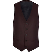 River Island MensRed smart vest