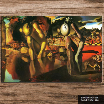 Salvador Dali Still life Abstract oil Painting Drawing art Spray Unframed Canvas wall airbrush figure miniature brass39041976