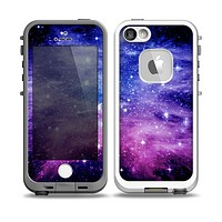 The Purple and Blue Scattered Stars Skin for the iPhone 5-5s fre LifeProof Case