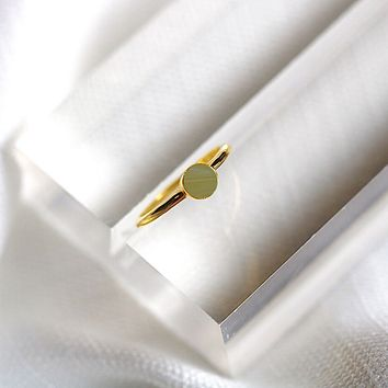 Small Gemstone Ring -Verde Marble
