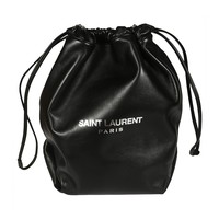Lambskin Leather Drawstring Backpack by Saint Laurent