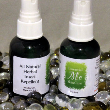 BUG SPRAY - All Natural Insect Repellent Organic Essential Oils, Deet Free Two 2oz bottles